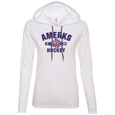 Rochester Americans Established Ladies' Long Sleeve T-Shirt Hoodie (sidewalk sale)