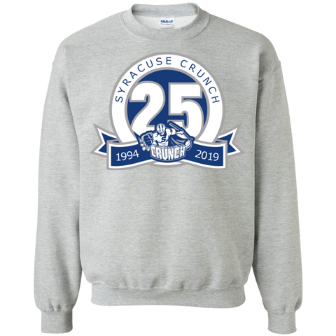 Syracuse Crunch 25th Anniversary Logo Adult Crewneck Pullover