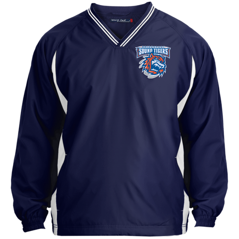 Bridgeport Sound Tigers Tipped VNeck Wind Shirt