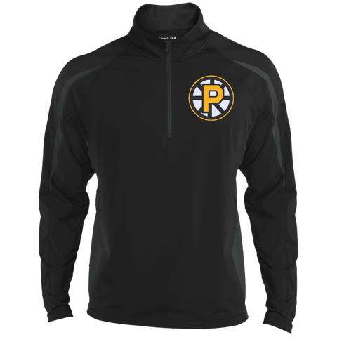 Providence Bruins Mens Sport Wicking Colorblock Half-Zip
