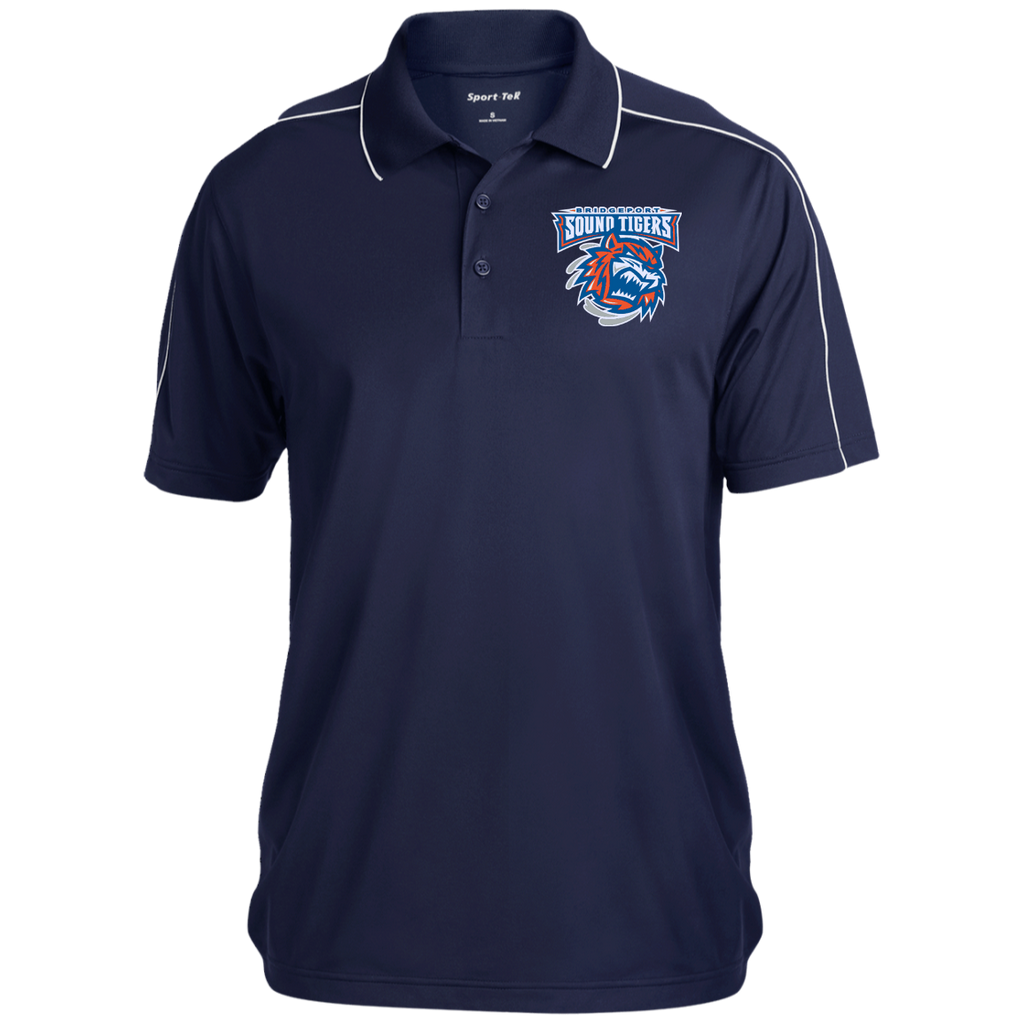 Bridgeport Sound TIgers Micropique Sport-Wick Piped Polo