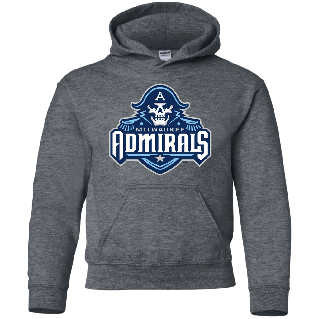 Milwaukee Admirals Primary Logo Youth Pullover Hoodie