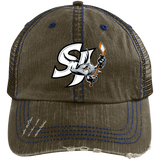 San Jose Barracuda Distressed Unstructured Trucker Cap