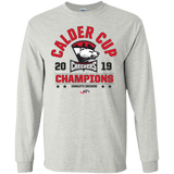 Charlotte Checkers 2019 Calder Cup Champions Adult Long Sleeve Arch Cotton T-Shirt