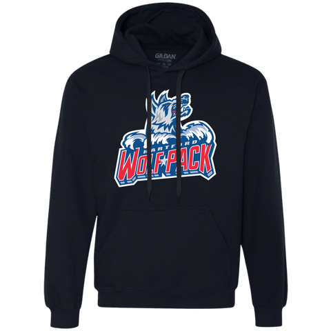 Hartford Wolf Pack Primary Logo Heavyweight Pullover Fleece Sweatshirt