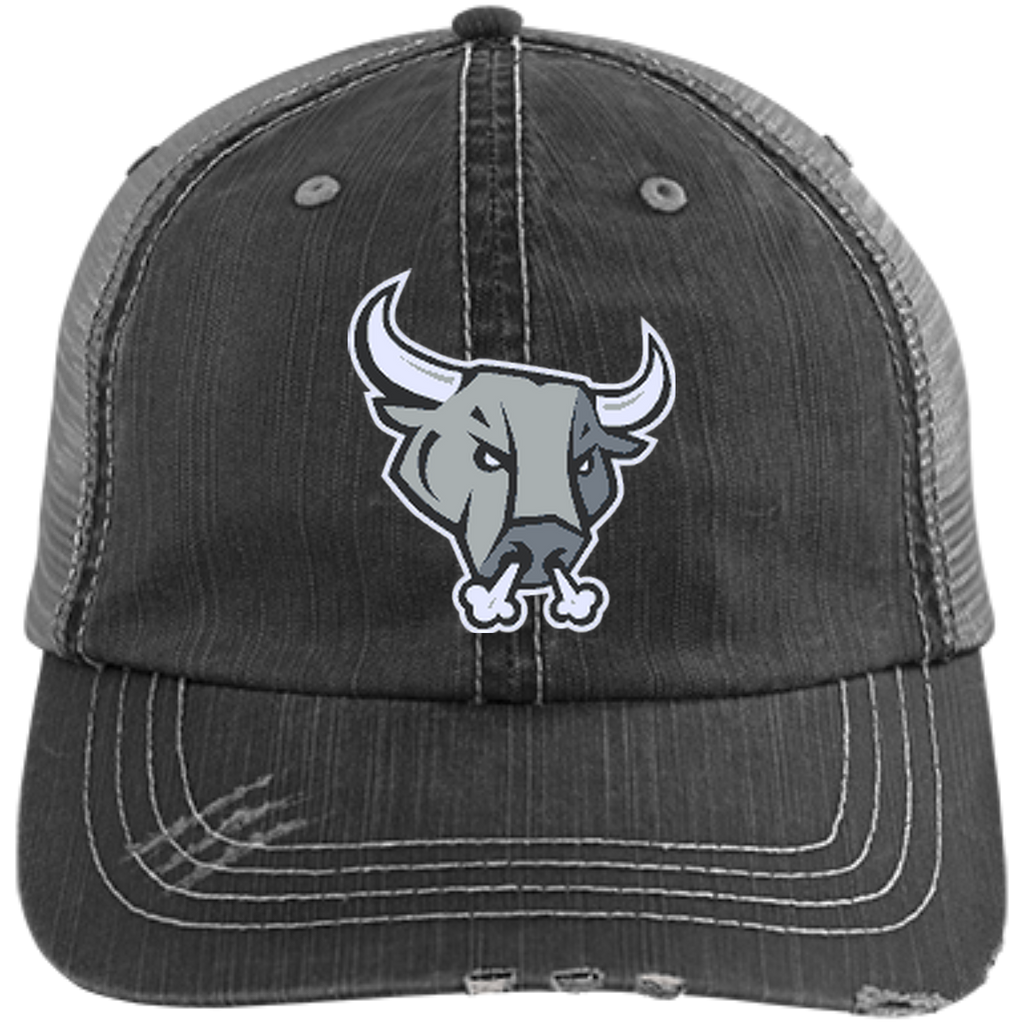 San Antonio Rampage Distressed Unstructured Trucker Cap