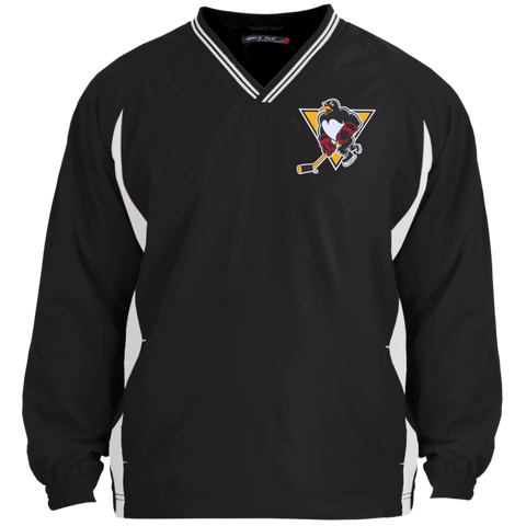 Wilkes-Barre/Scranton Penguins Adult Tipped VNeck Wind Shirt