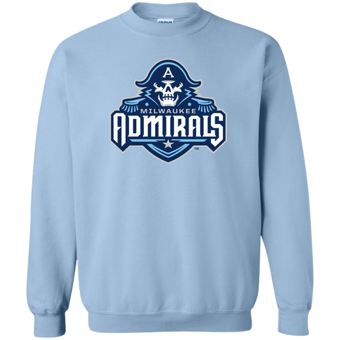 Milwaukee Admirals Primary Logo Adult Crewneck Pullover Sweatshirt