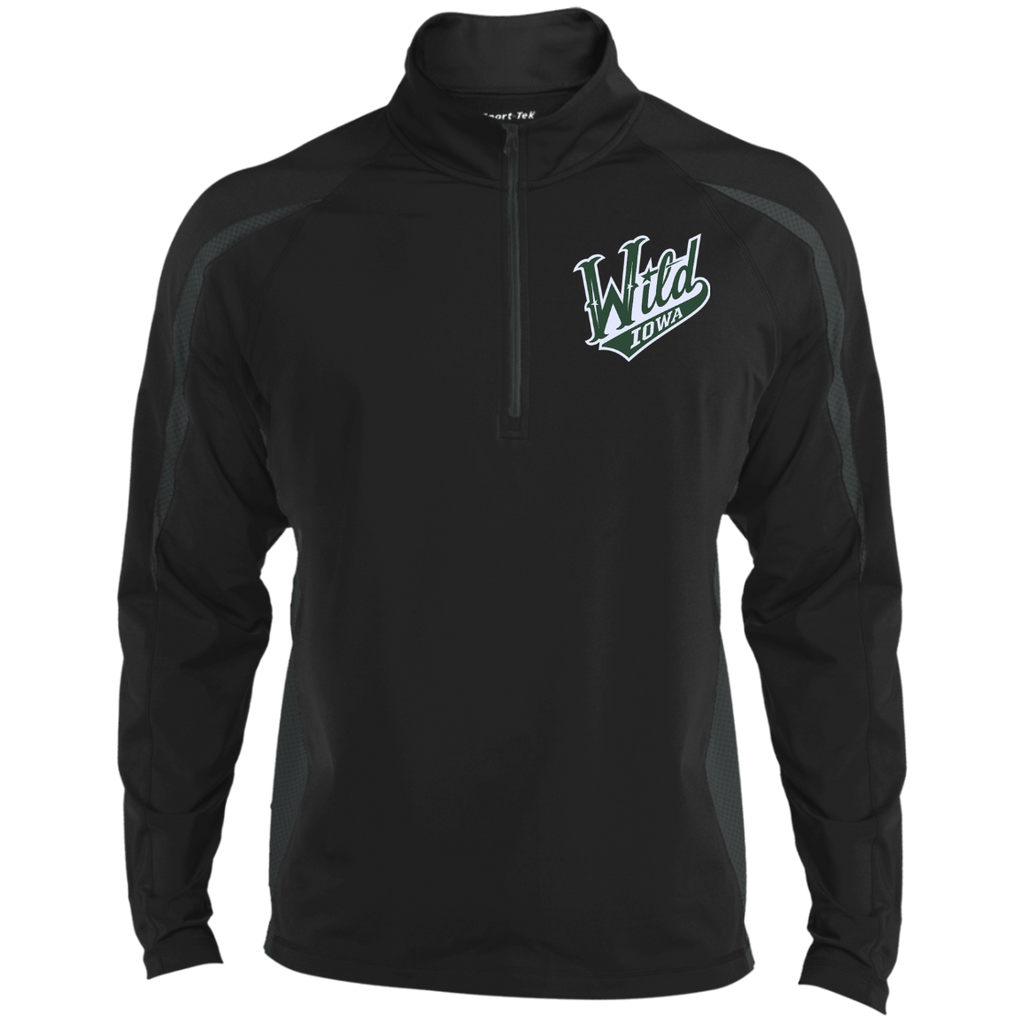 Iowa Wild Mens Sport Wicking Colorblock Half-Zip