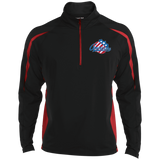 Rochester Americans Mens Sport Wicking Colorblock Half-Zip
