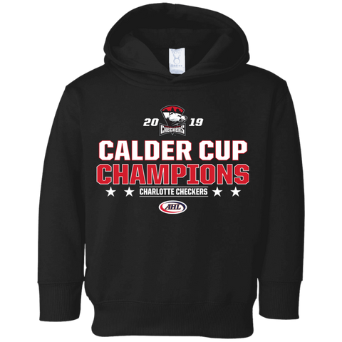 Charlotte Checkers 2019 Calder Cup Champions Toddler Stacked Fleece Hoodie