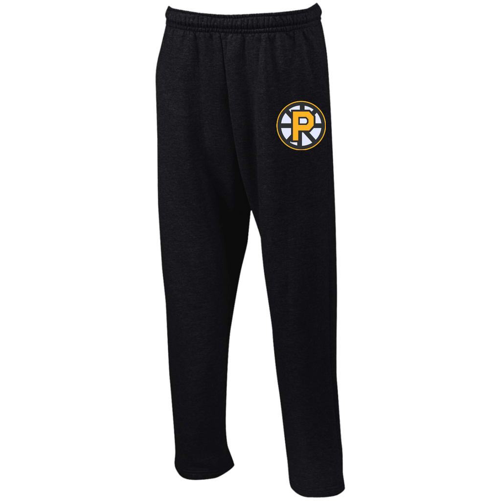 Providence Bruins Open Bottom Sweatpants with Pockets