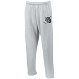 Chicago Wolves Adult Open Bottom Sweatpants with Pockets