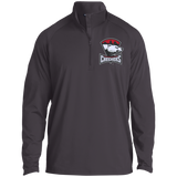Charlotte Checkers Adult Half Zip Raglan Performance Pullover