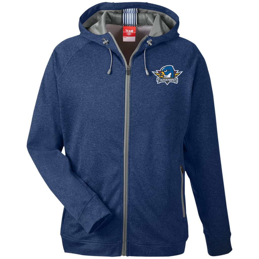 Springfield Thunerbirds Team 365 Men's Heathered Performance Hooded Jacket