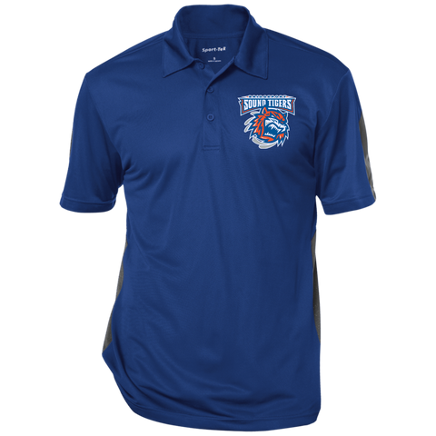 Bridgeport Sound Tigers Performance Textured Three-Button Polo