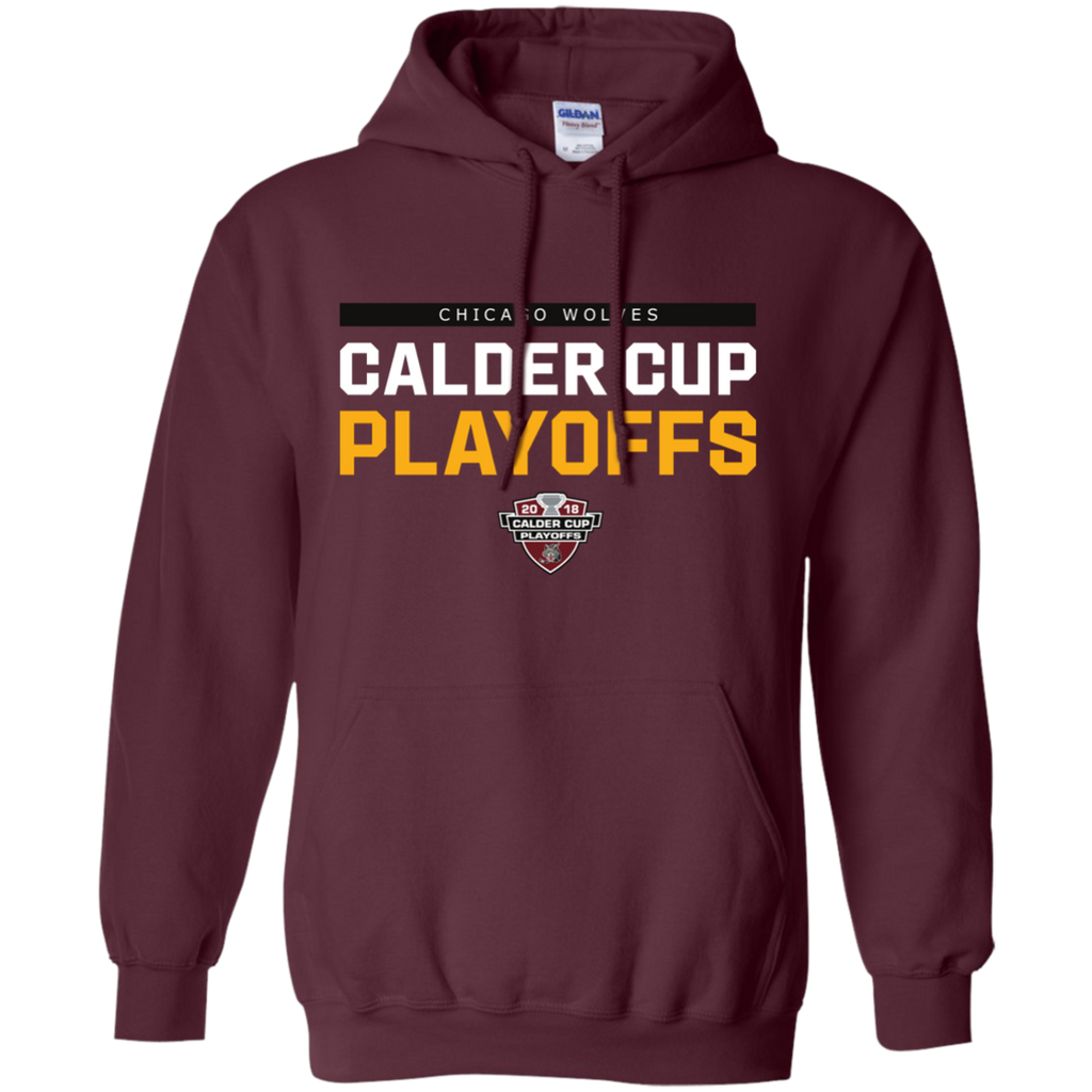 Chicago Wolves Adult 2018 Postseason Pullover Hoodie