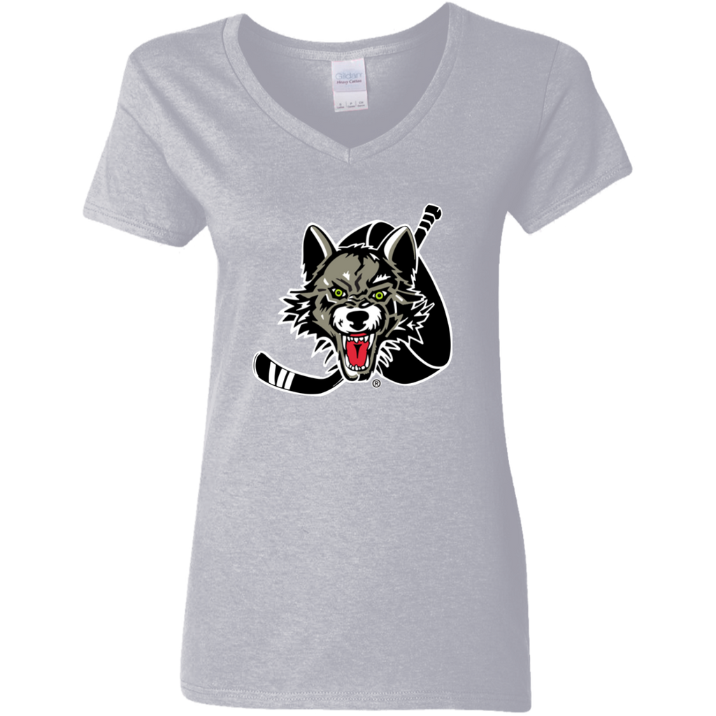 Chicago Wolves Ladies' 5.3 oz. V-Neck T-Shirt