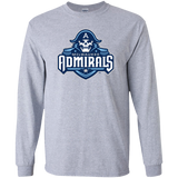Milwaukee Admirals Primary Logo Adult Long Sleeve T-Shirt
