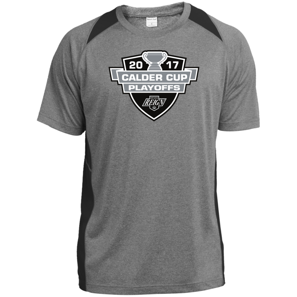 Ontario Reign Adult 2017 Calder Cup Playoffs Heather Colorblock Poly T-Shirt