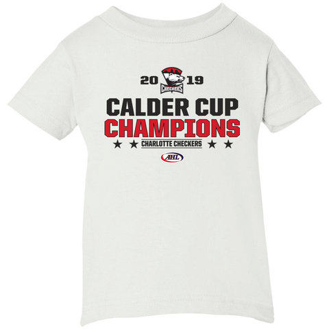 Charlotte Checkers 2019 Calder Cup Champions Infant Short Sleeve T-Shirt