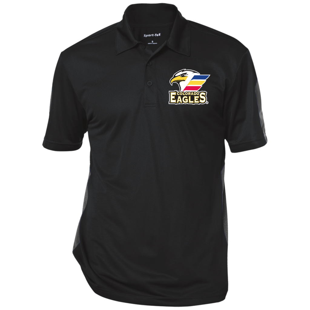Colorado Eagles Performance Textured Three-Button Polo