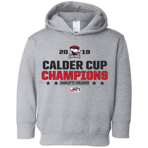 Charlotte Checkers 2019 Calder Cup Champions Toddler Stacked Hoodie