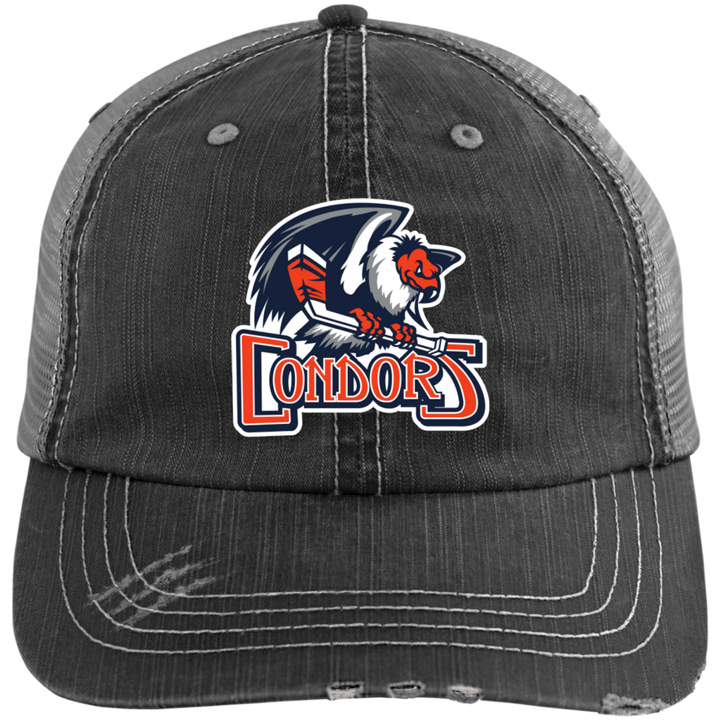 Bakersfield Condors Distressed Unstructured Trucker Cap