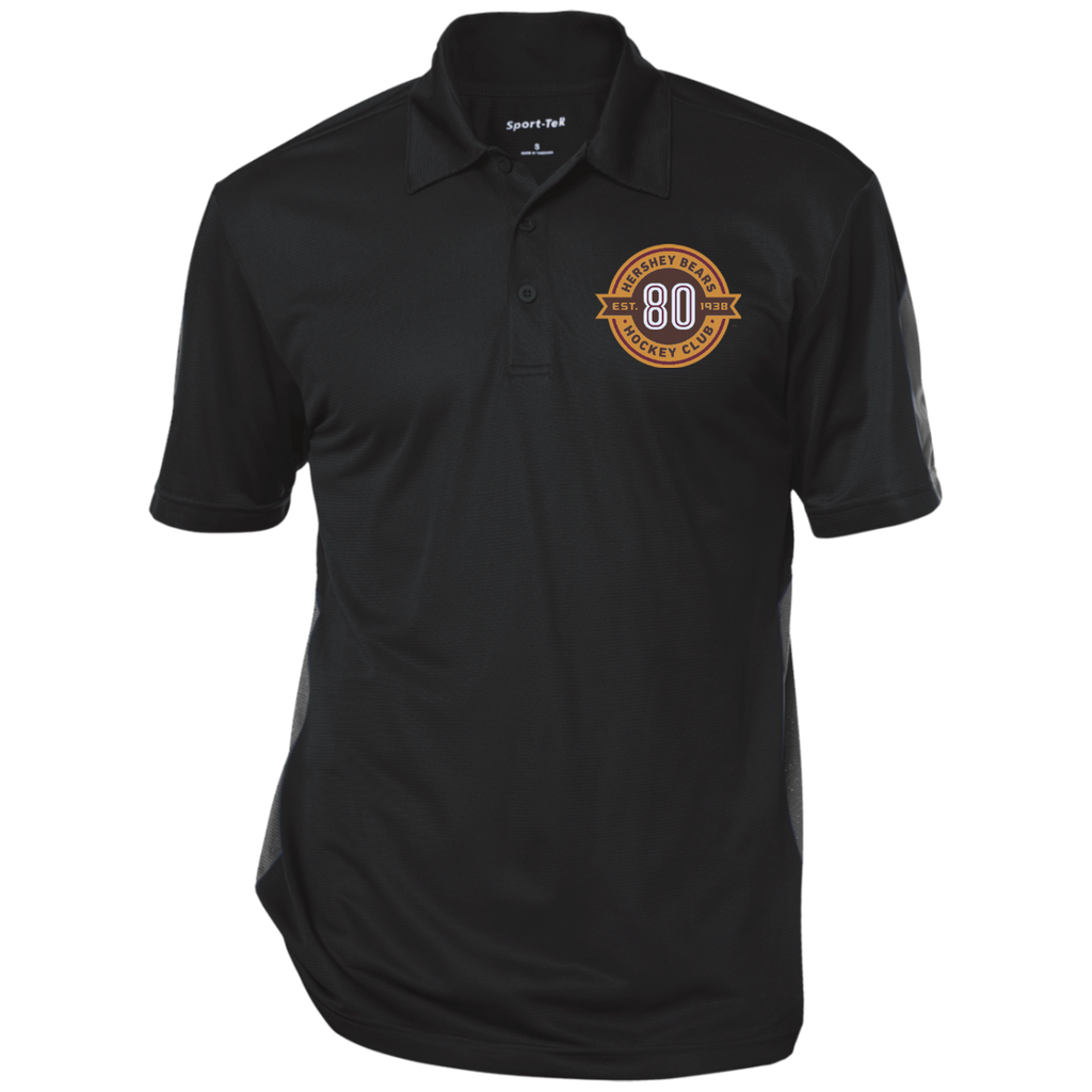 Hershey Bears 80th Anniversary Performance Textured Three-Button Polo