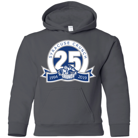 Syracuse Crunch 25th Anniversary Logo Youth Pullover Hoodie