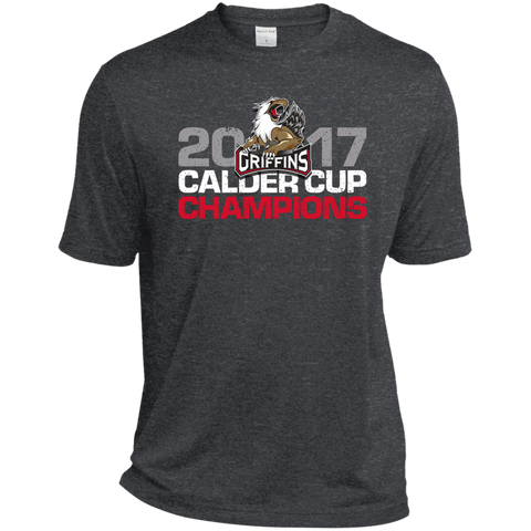 Grand Rapids Griffins 2017 Calder Cup Champions Distressed Heather Dri-Fit Moisture-Wicking T-Shirt