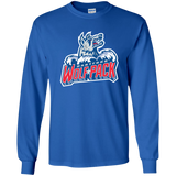Hartford Wolf Pack Primary Logo Adult Long Sleeve T-Shirt