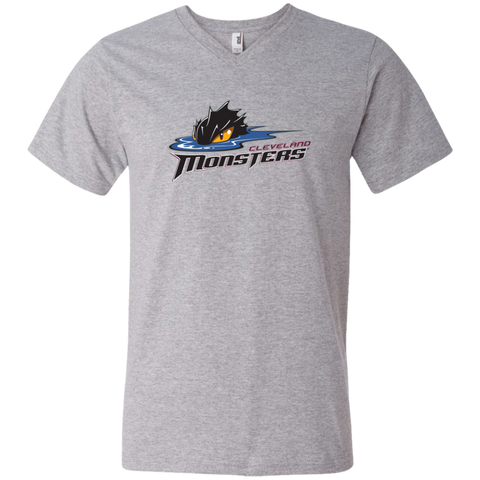 Cleveland Monsters Primary Logo Adult Men's V-Neck T-Shirt