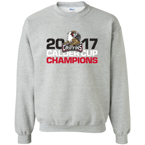 Grand Rapids Griffins 2017 Calder Cup Champions Distressed Adult Crewneck Pullover Sweatshirt