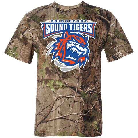 Bridgeport Sound Tigers Adult Short Sleeve Camouflage T-Shirt