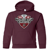 Chicago Wolves 2019 Calder Cup Playoffs Youth Pullover Hoodie