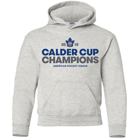 Toronto Marlies 2018 Calder Cup Champions Crown Youth Pullover Hoodie