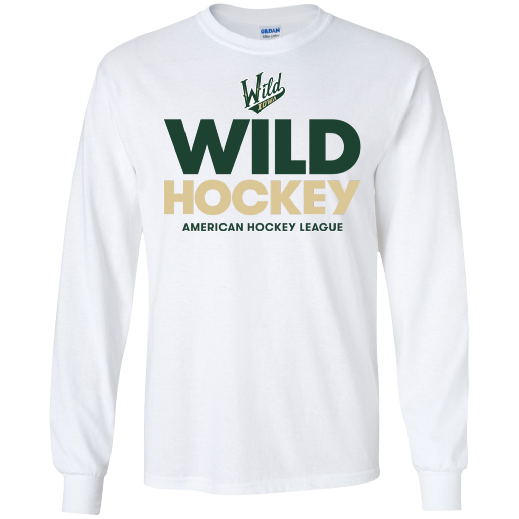 Iowa Wild Hockey Adult Long Sleeve T-Shirt