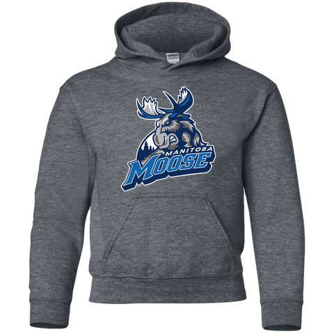 Manitoba Moose Primary Logo Youth Pullover Hoodie