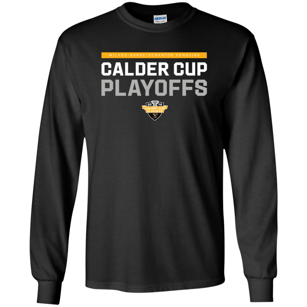 Wilkes-Barre/Scranton Penguins Adult 2018 Postseason Long Sleeve Cotton T-Shirt