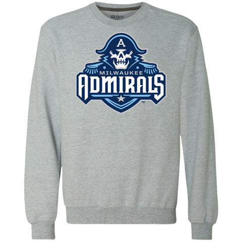 Milwaukee Admirals Primary Logo Heavyweight Crewneck Sweatshirt