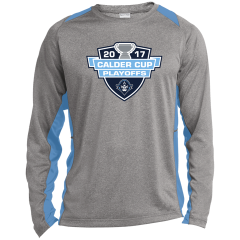 Milwaukee Admirals 2017 Calder Cup Playoffs Long Sleeve Heather Colorblock Poly T-shirt
