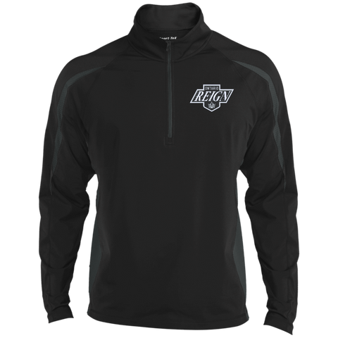 Ontario Reign Mens Sport Wicking Colorblock Half-Zip
