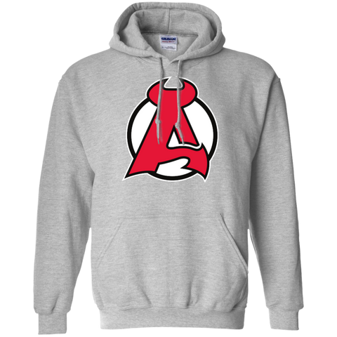 Albany Devils Primary Logo Adult Pullover Hoodie