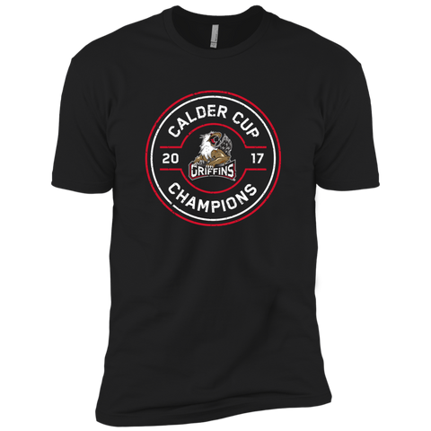 Grand Rapids Griffins 2017 Calder Cup Champions Faceoff Next Level Premium Short Sleeve T-Shirt (black)