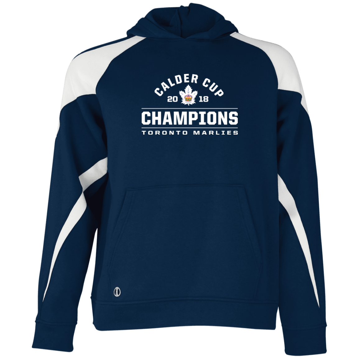 Toronto Marlies 2018 Calder Cup Champions Arch Youth Colorblock Hoodie