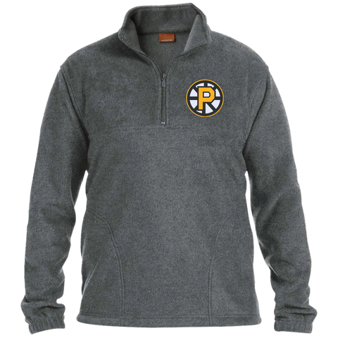 Providence Bruins Adult Embroidered 1/4 Zip Fleece Pullover