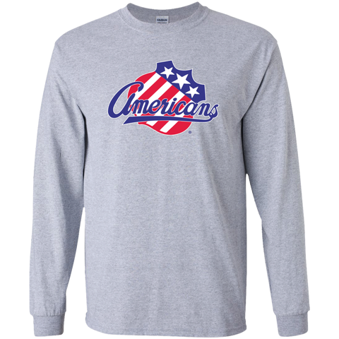 Rochester Americans Primary Logo Youth Long Sleeve Shirt