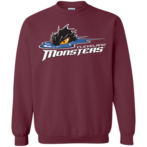 Cleveland Monsters Primary Logo Adult Crewneck Pullover Sweatshirt (Sidewalk Sale)