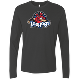 Rockford IceHogs Primary Logo Next Level Men's Premium LS